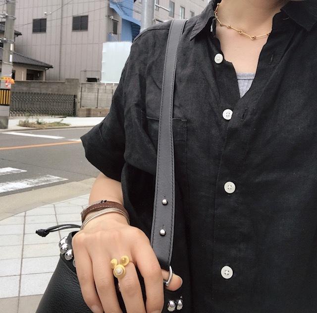 ちょっとそこまで。黒小物で黒コーデ☆_1_2-2