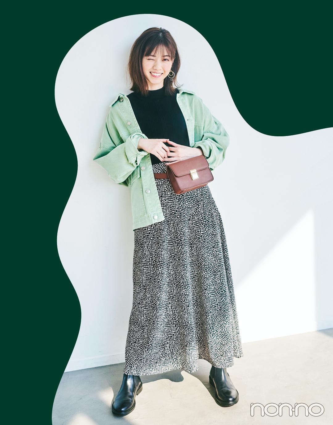 西野七瀬が秋のトレンド「ハンサムスカート」をはき比べ!_1_3