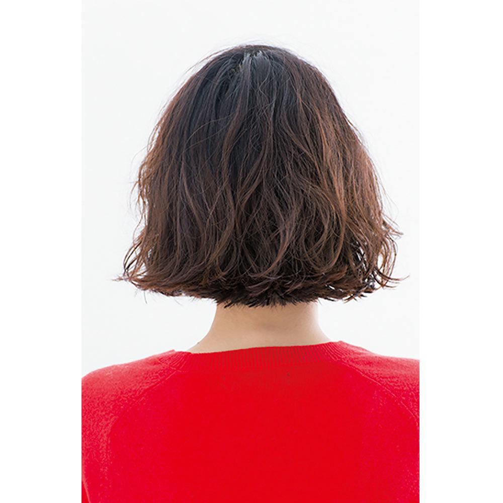 後ろから見た 人気ヘアスタイル3位の髪型