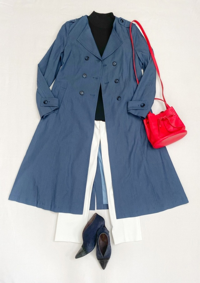 秋のトレンチコートはデニム風カラーで、一味違ったお洒落を♡_1_4