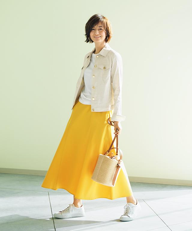 春色のスカート