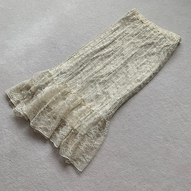「GU」レースプリーツスカート