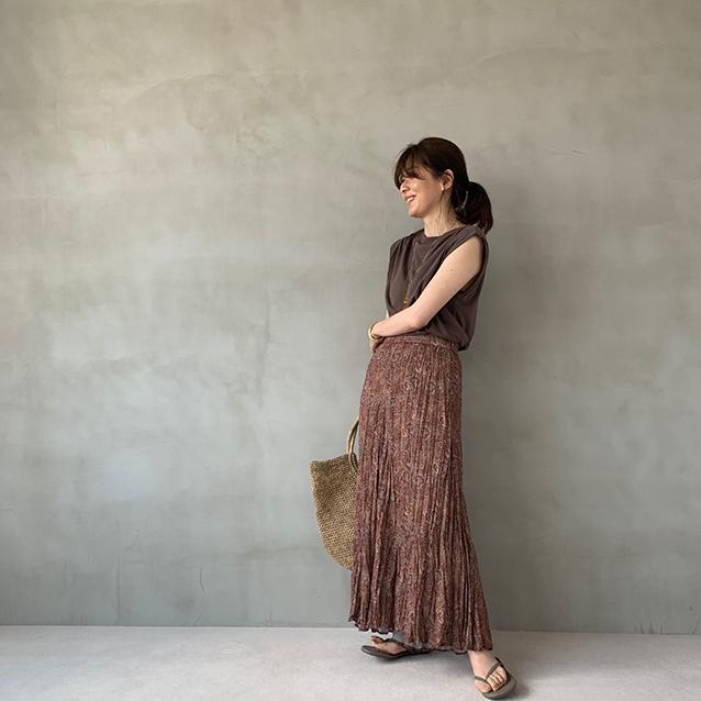 夏のブラウンで品よくこなれる! 大人のプチプラ高見えも叶えるブラウンコーデまとめ 40代ファッション_1_12