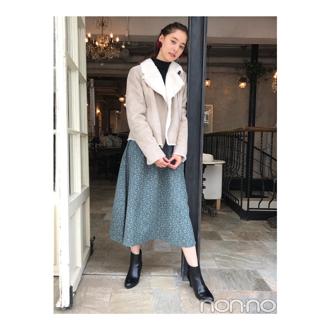 新木優子が着る旬のムートンライダーススタイル【毎日コーデ】_1_1