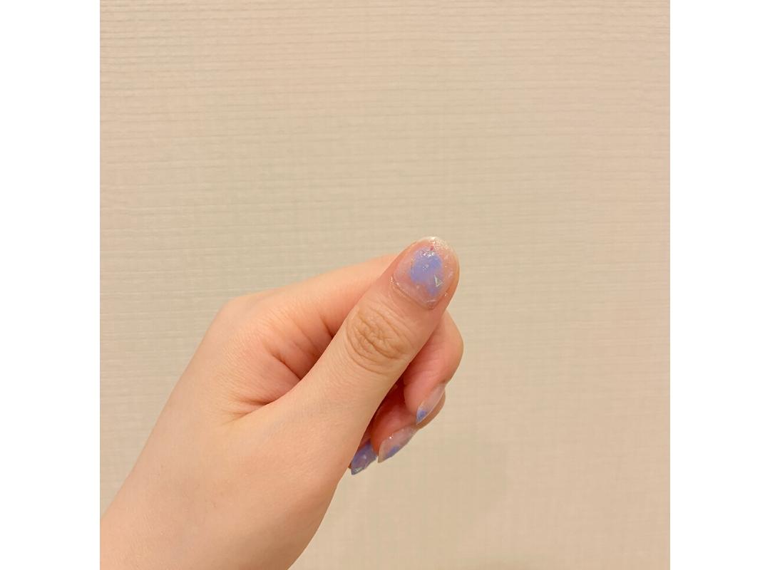 【ダイソー】夏っぽブルーのニュアンスネイル_1_5