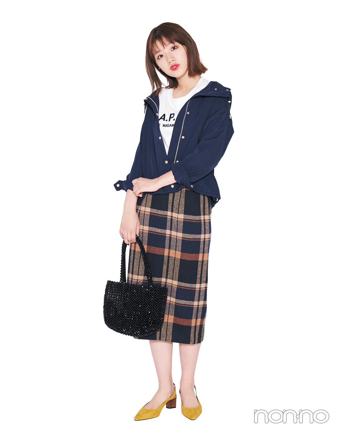 2019秋冬トレンド★ タイトロングスカートが1枚あれば、一気に旬顔!_1_3-1
