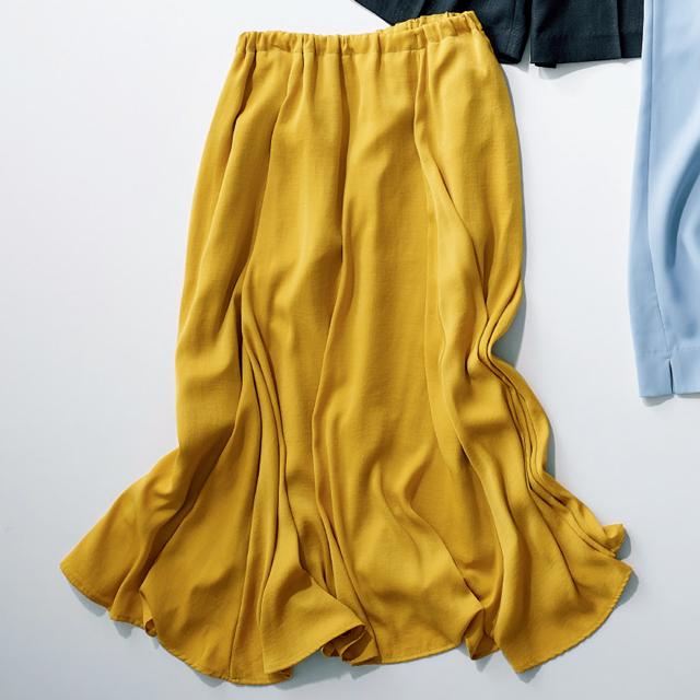ドラマチックな揺れ感のあるスカート