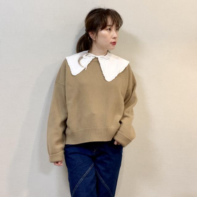 つけ襟コーデのバリエーション♡セーター・Tシャツ・ワンピース‼︎_1_2