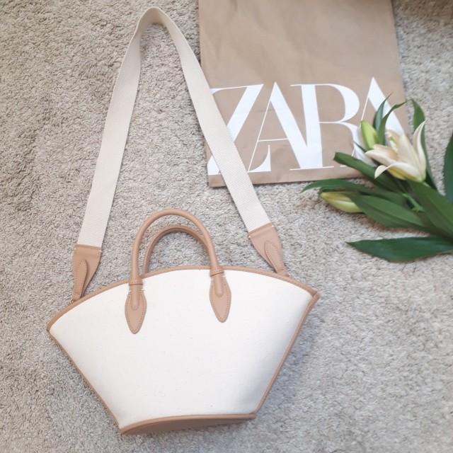 【ZARA】セールで購入したキャンバス地トートバック_1_2-2