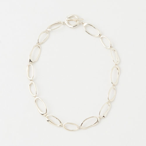 MODERN WEAVING HAND FORMED MINI OVAL LINK CHAIN NECKLACE