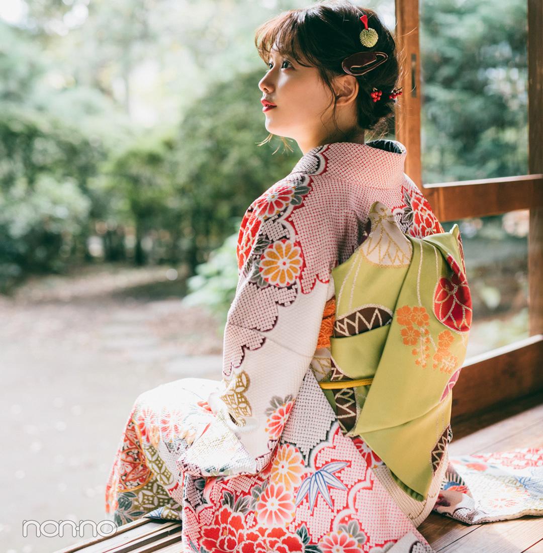 渡邉理佐の振袖コーデ♡ レトロな白はビタミンカラー合わせで今っぽく!【成人式2019】_1_2-2