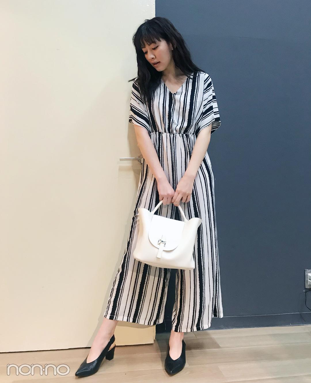 ノンノモデル岡本杏理の私服スナップ
