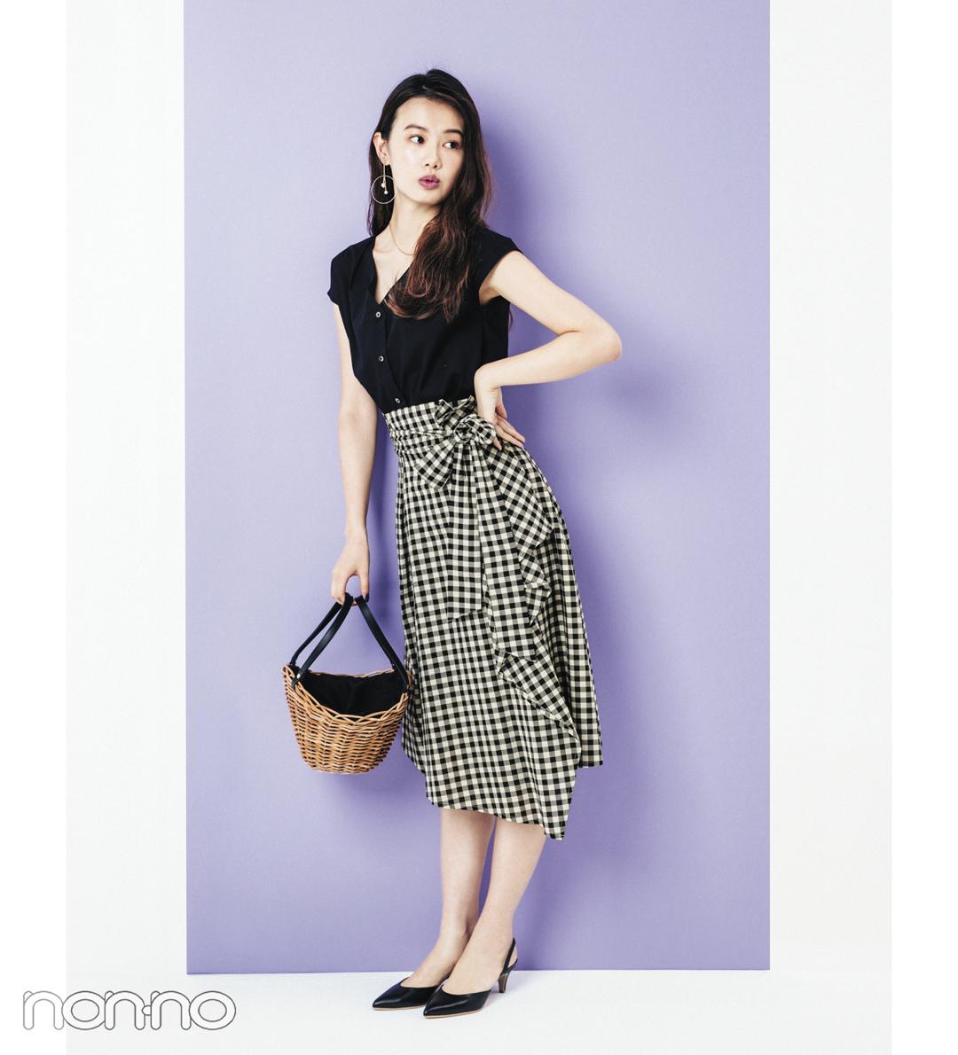 人気スタイリストに聞く!  ギンガムチェックのスカートを大人っぽく着る方法_1_3