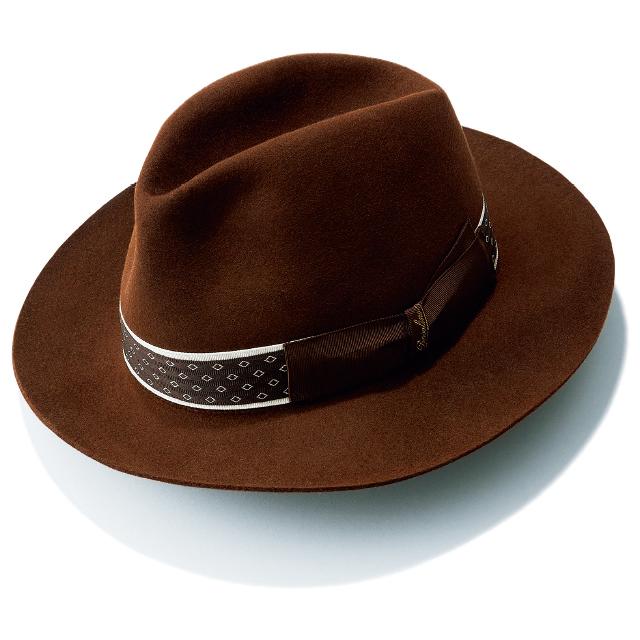 ブラウン 帽子 ボルサリーノ