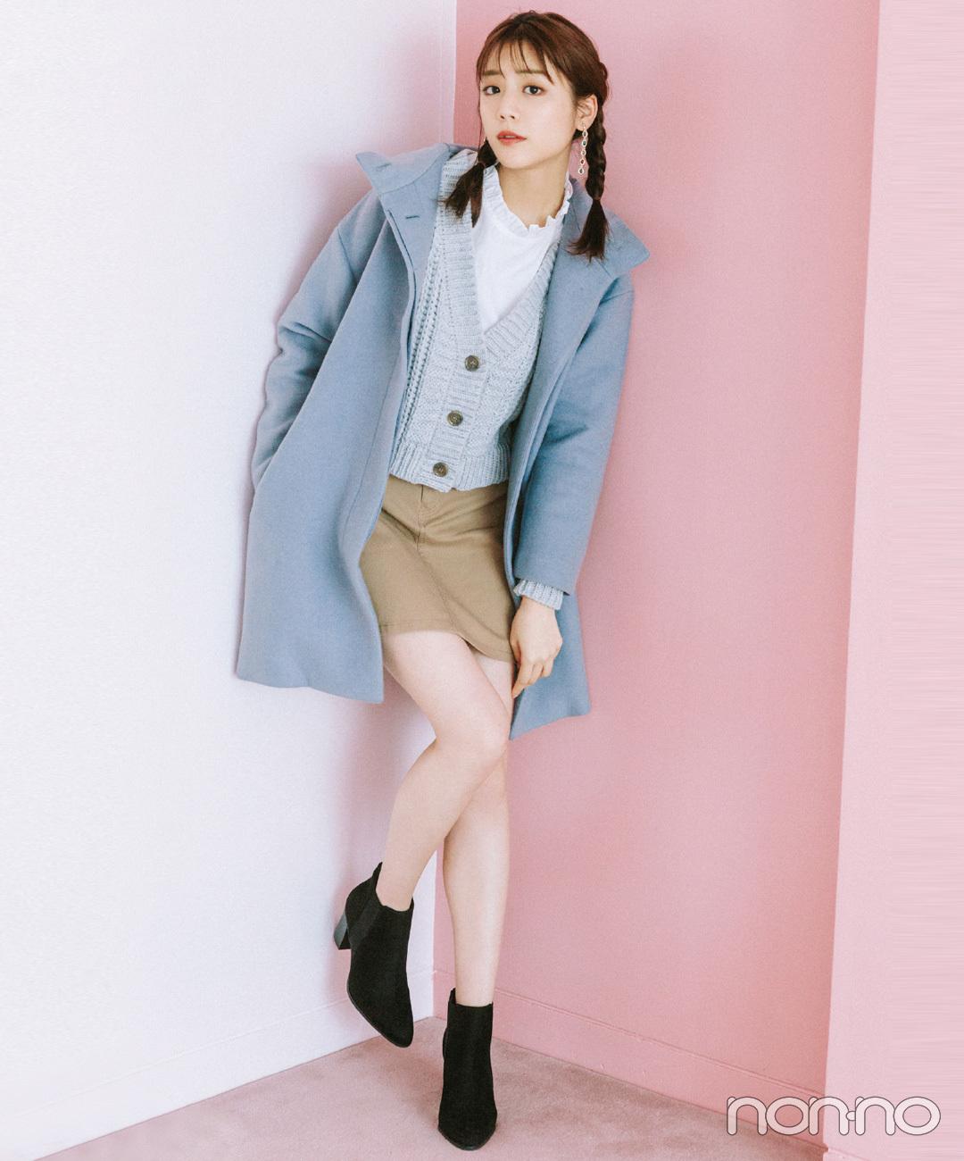【ユニクロのコート】キレイめ配色のグッドガール風コーデ