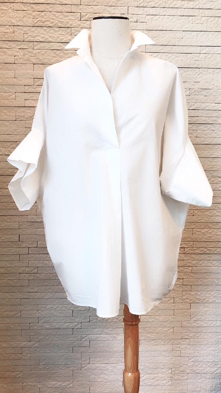 プラージュの白シャツの着こなし_1_1