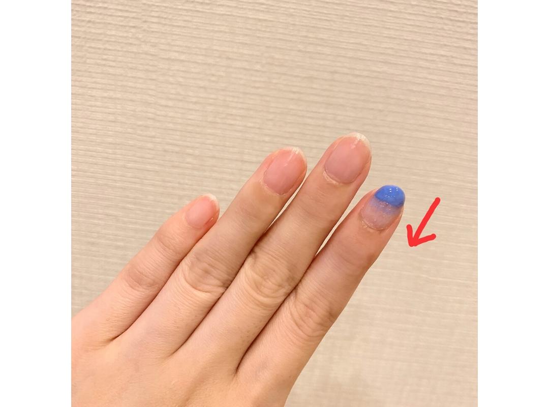 【ダイソー】夏っぽブルーのニュアンスネイル_1_7