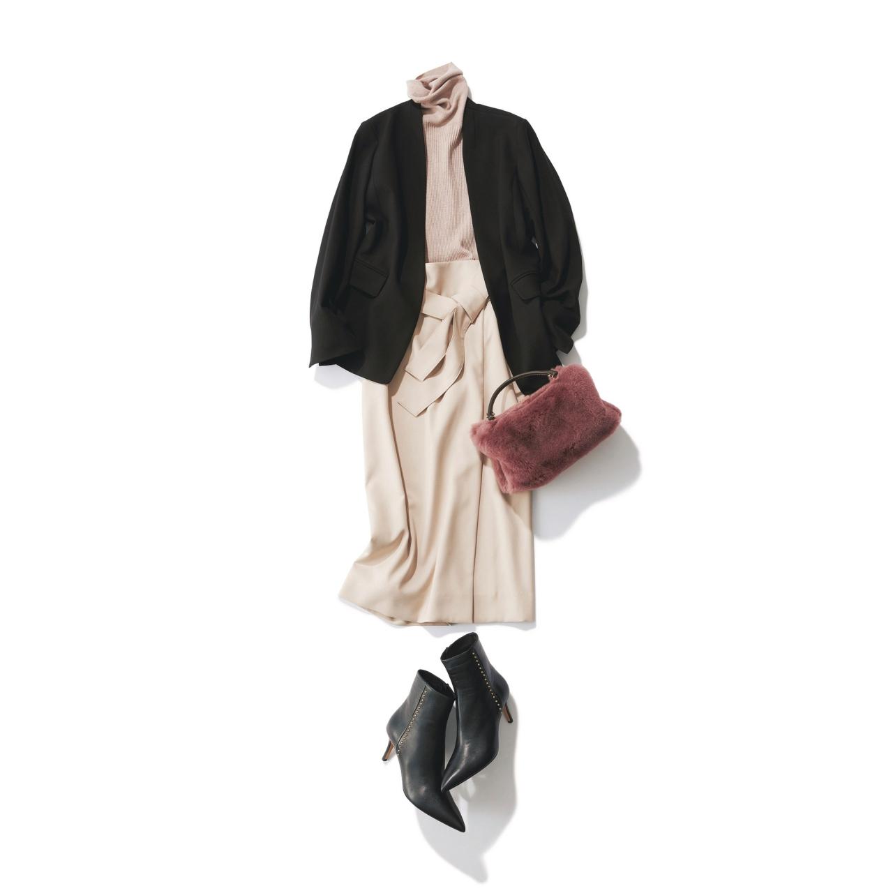 ジャケット×タイトスカートのファッションコーデ