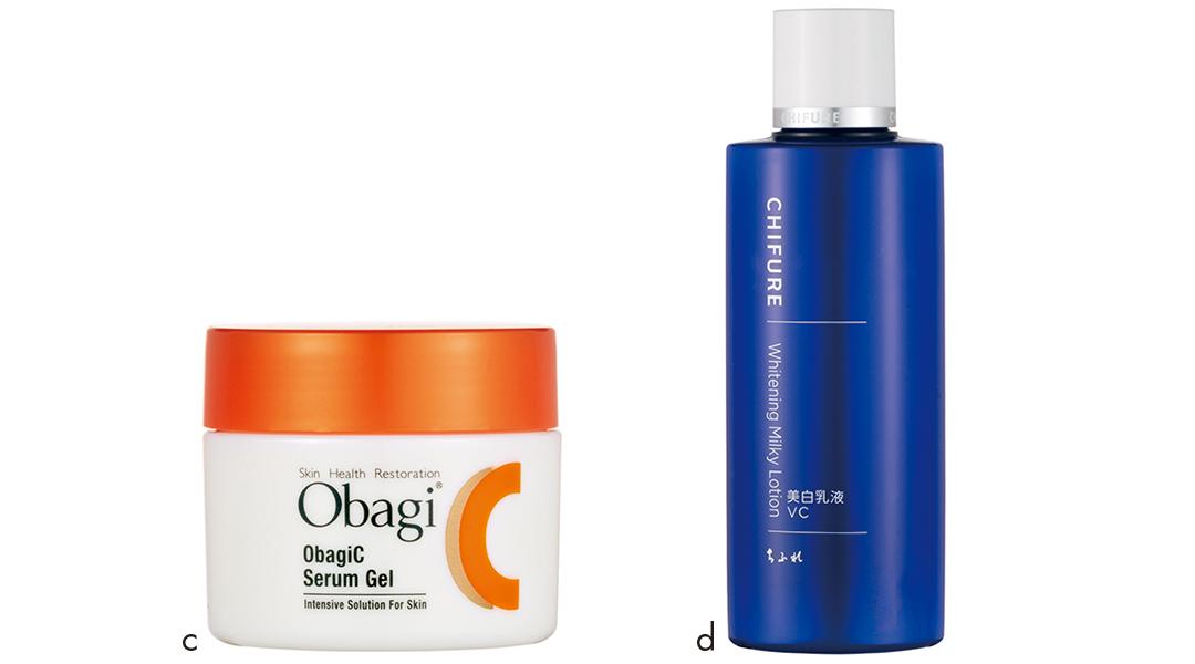 ロート製薬 オバジC セラムゲル、ちふれ化粧品 ちふれ 美白乳液 VC