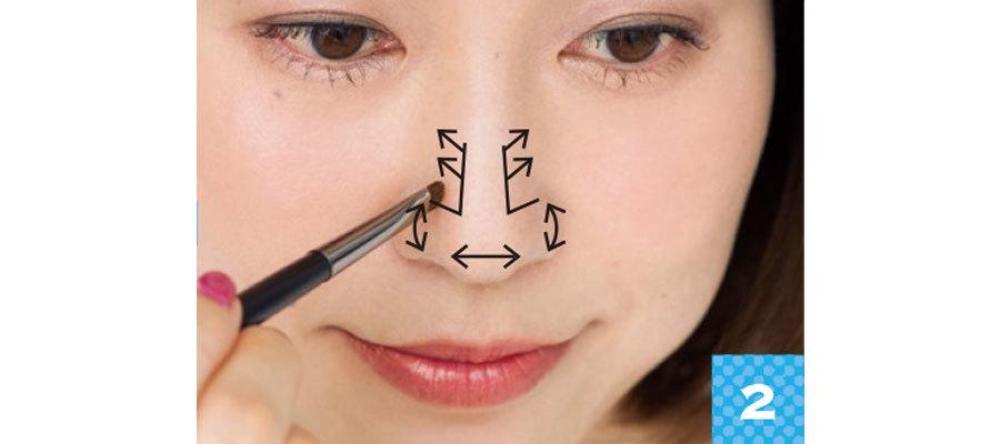 アラフォーになって鼻先が年々丸くなってきている?鼻すじ復活カモフラメイク_1_5
