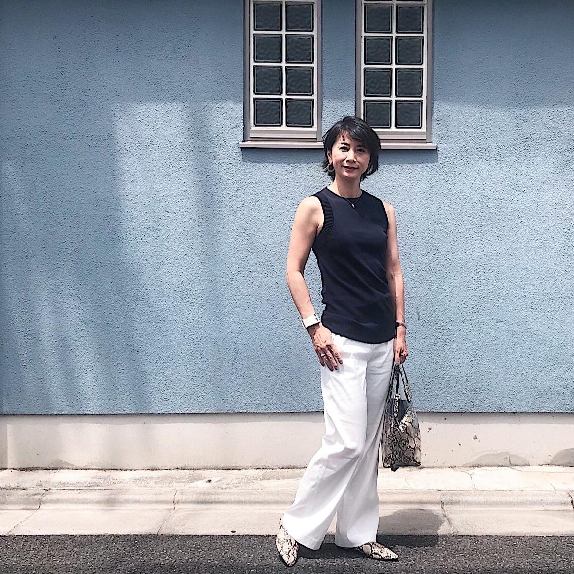 シンプル服に小物でパンチ、が好きです。_1_1