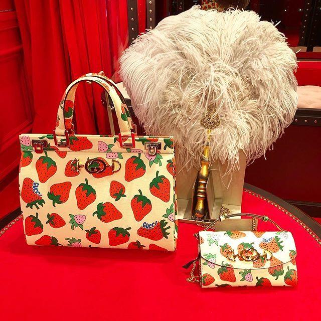 イチゴのバッグが可愛すぎる!グッチ2019春夏展示会で見つけた春に買いたいバッグたち_1_1