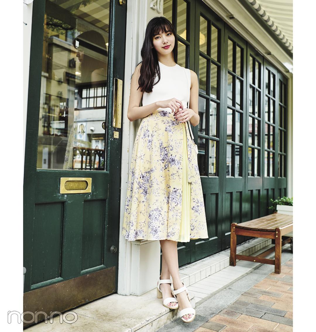 新木優子がお手本♡ この夏のデートコーデは白×パステルで決まり!_1_2-1