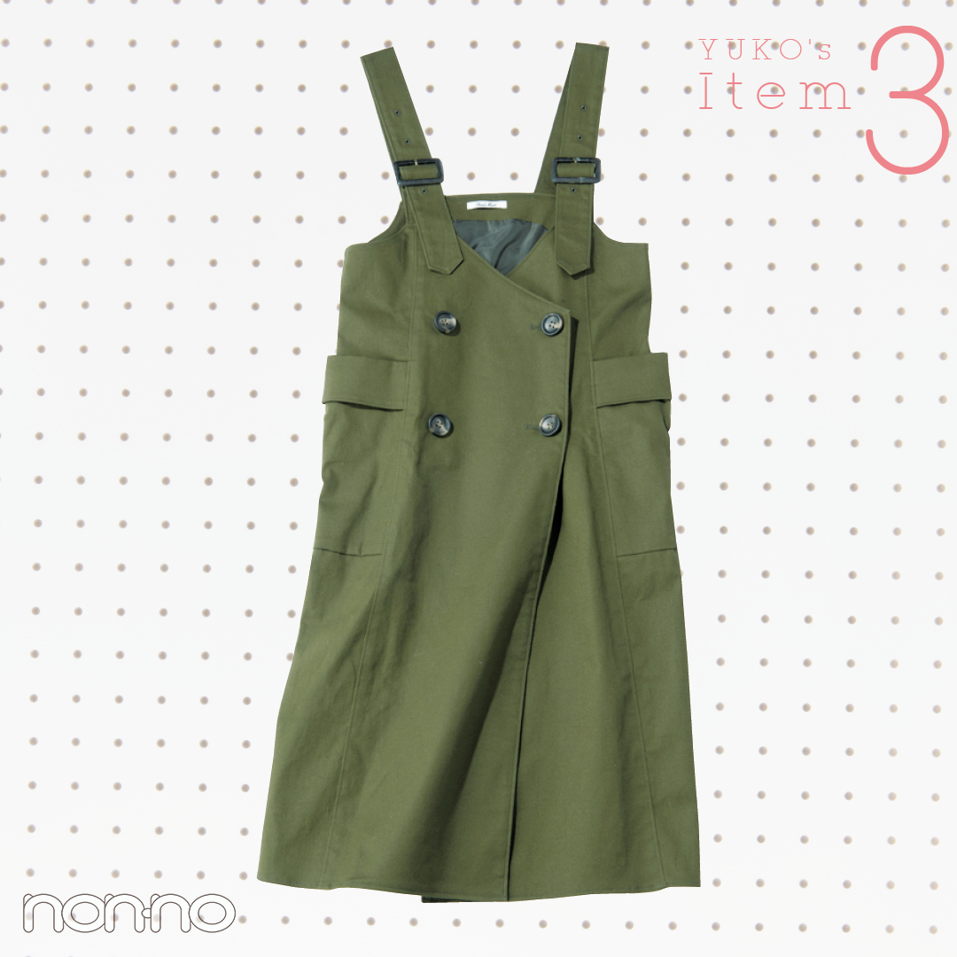 カジュアル派・新木優子はジャンスカを今から春までこう着る!【着回しコーデ】_1_3