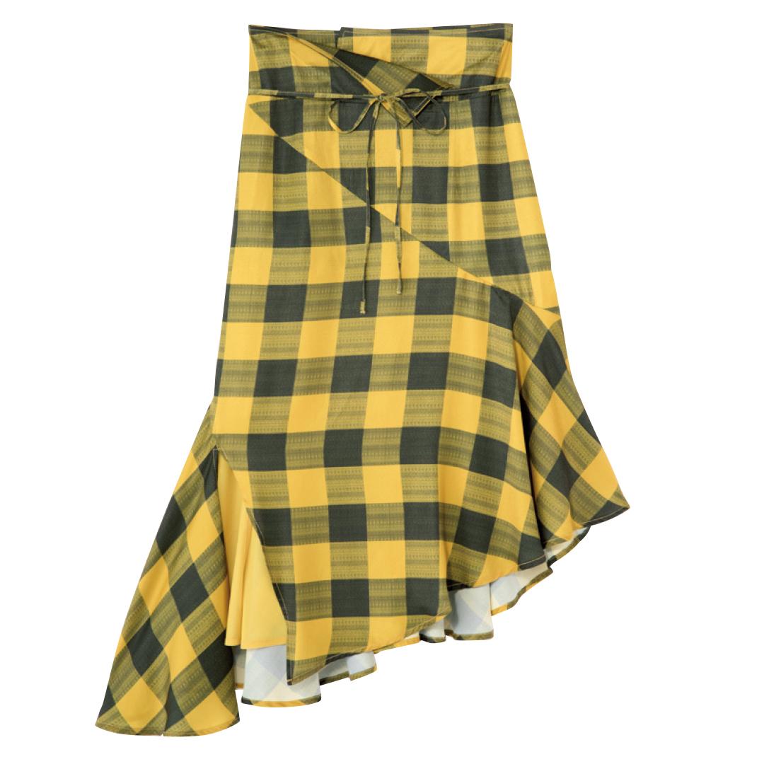 きれいめ派マスト! 秋はマーメイド風の裾フリルスカートが可愛いってウワサ★_1_3-1