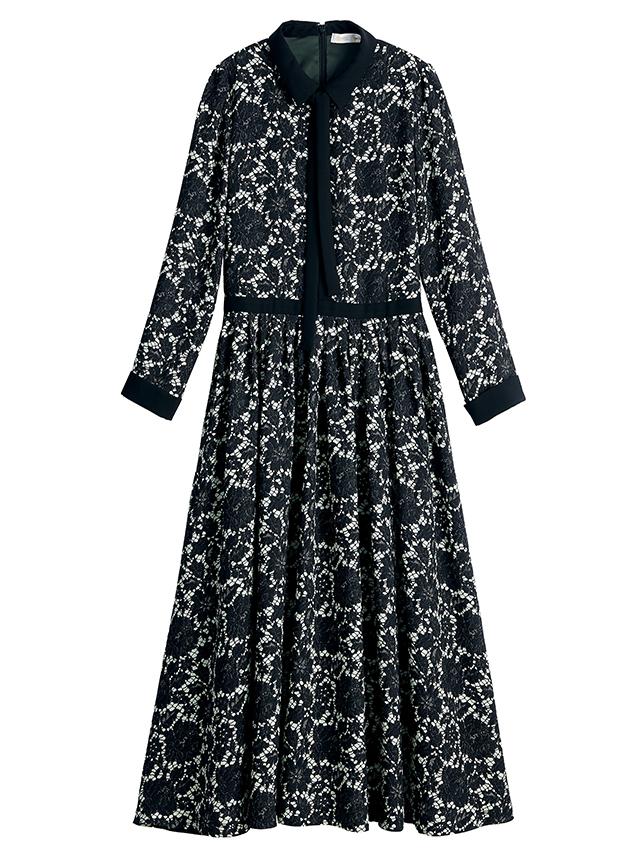 カスタマイズ1:秋冬素材で、襟や前立て、カフスを黒にすることで、シックでクラシカルに