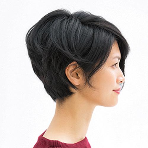 年々強くなるうねりやクセを生かしつつ、ボリュームを調節したショートボブ【40代のショートヘア】_1_2
