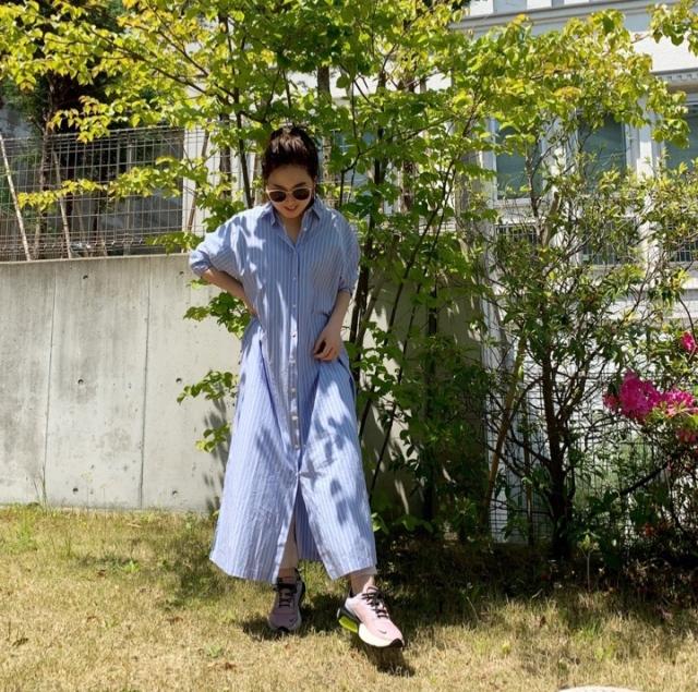 【STAY HOME】着用率高め!一枚で様になるシャツワンピース_1_2
