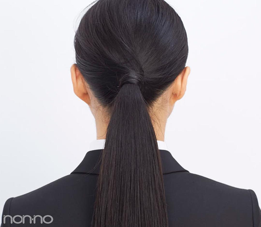 就活の髪型、最終面接ではツヤ盛りひとつ結び! おすすめヘアオイルつき★_1_3-2