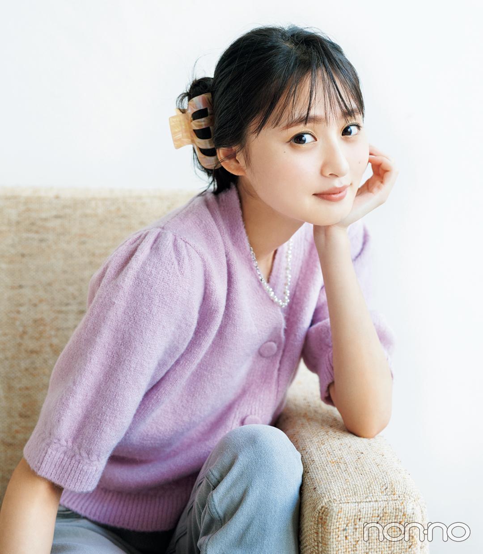 遠藤さくらのヘアアクセ&アレンジ図鑑のモデルカット1-2