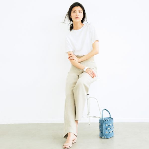 インナーいらずがポイント、大人の女性に似合うイレーヴの絶賛Tシャツ_1_1