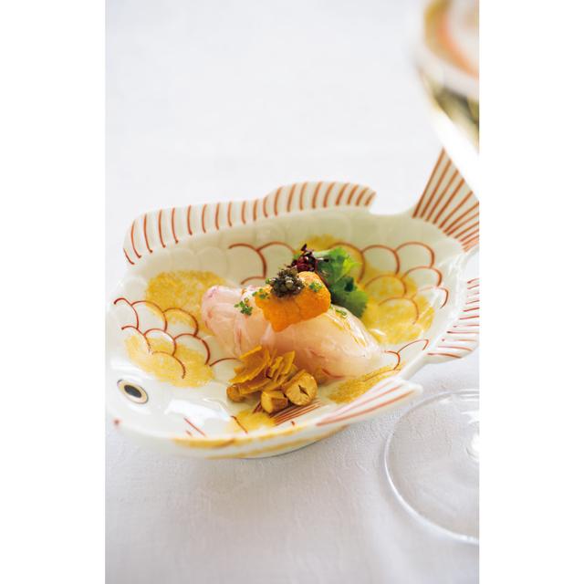 真鯛の広東風お刺身サラダ
