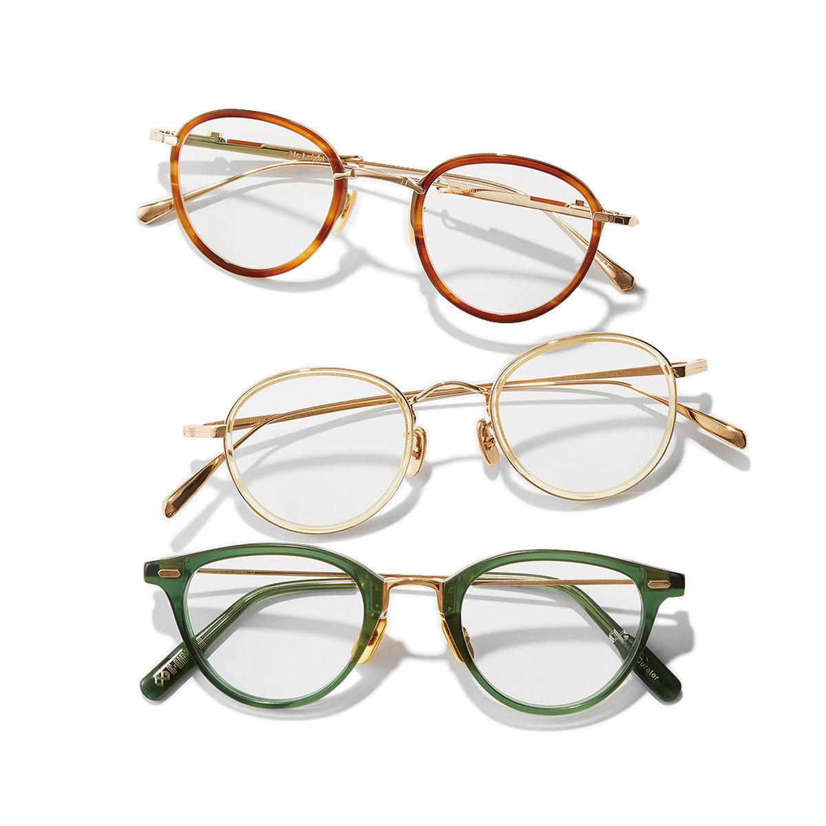 ミスター・ライト、BJ CLASSIC COLLECTION、オージー・バイ・オリバー・ゴールドスミスのメガネ