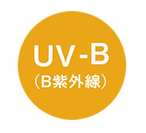 紫外線を浴びた時、肌が赤くなったり、ヒリヒリするのはUV-Bによる炎症。メラニンを増やしてシミやソバカスの原因になり、乾燥の要因にも。