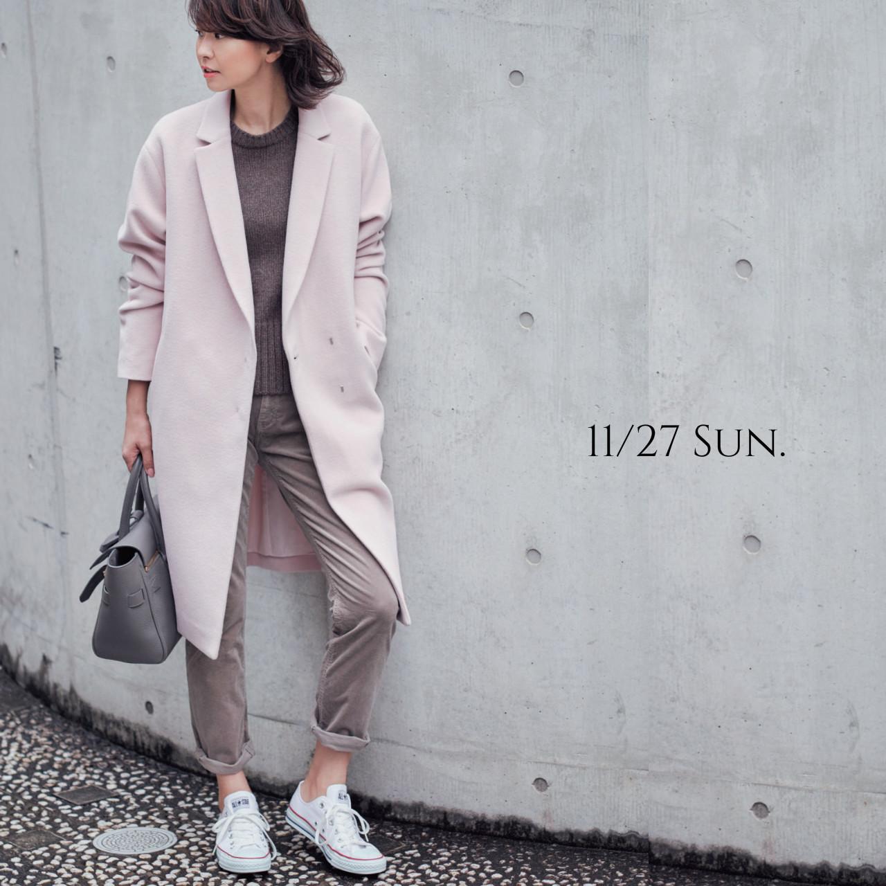 羽織るだけで女っぷりをぐっと引き出す大人ピンクのコートでお迎えに_1_1