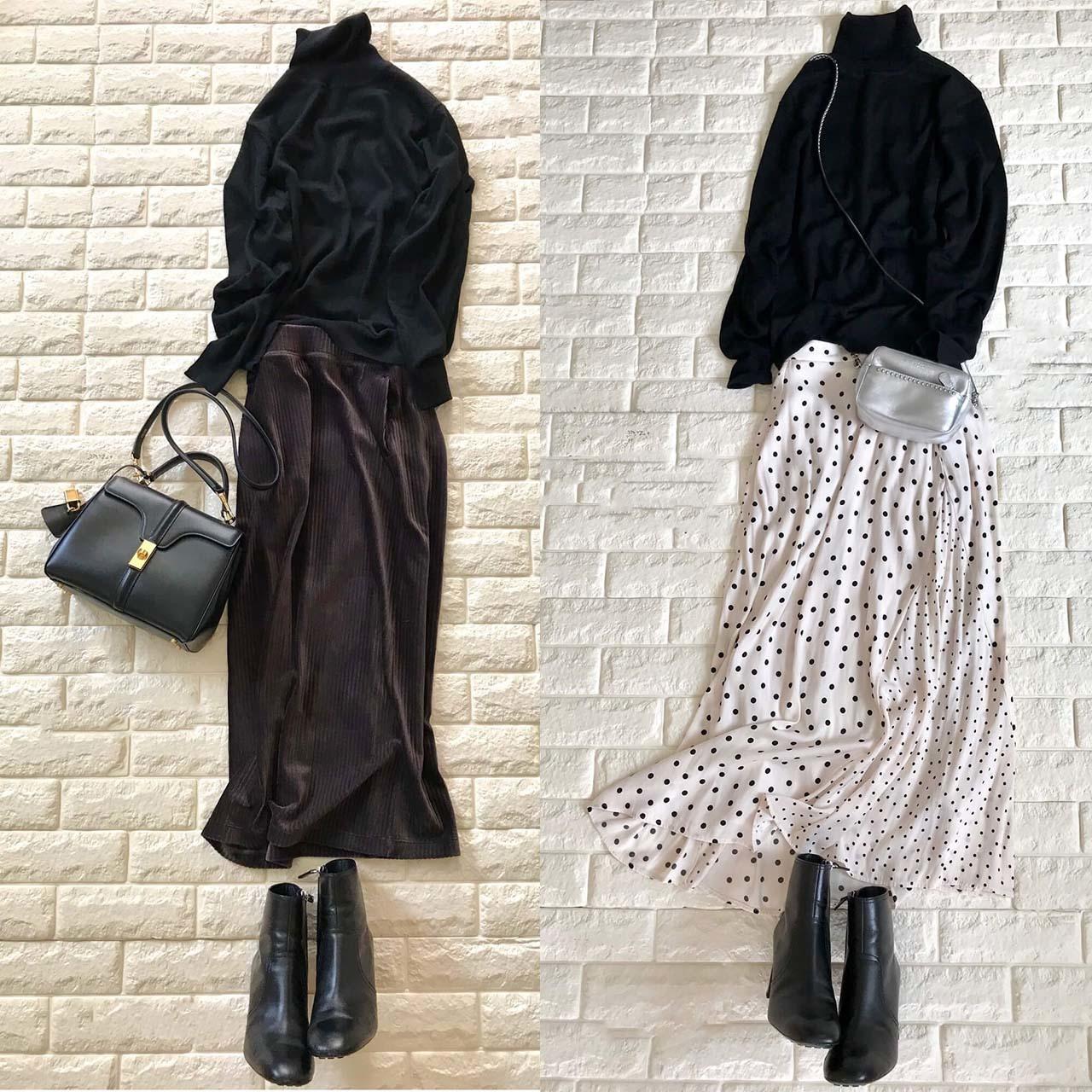 美女組・Akaneさんが提案。ユニクロの名品はこう着るのが正解!|40代の2020冬コーデ