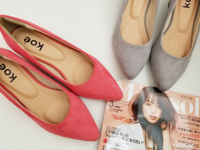 koeの春色フェイクスエードパンプス2990円!!もちろん2色買い♡♡_1_1