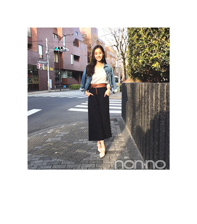 毎日コーデ★新木優子の大人っぽGジャンコーデ_1_1