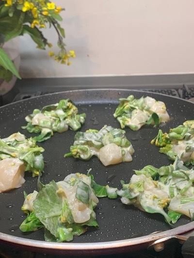 菜の花 山菜 ジョン 韓国料理