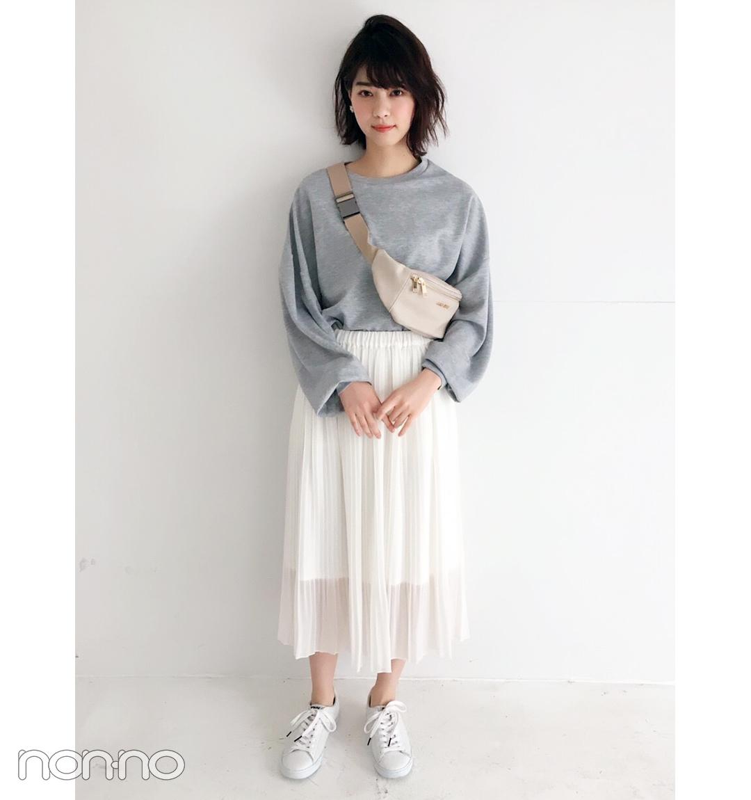 西野七瀬は白スカートにスポーツMIXでモテカジュアルにトライ♡【毎日コーデ】
