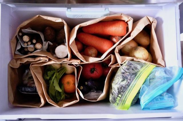 冷蔵庫 野菜室 紙袋収納