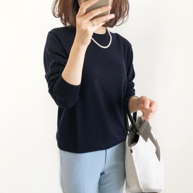 『UNIQLO』ハイゲージニット×カラーパンツ【tomomiyuコーデ】_1_2