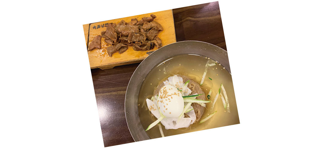 江野沢愛美は韓国の冷麺が大好き