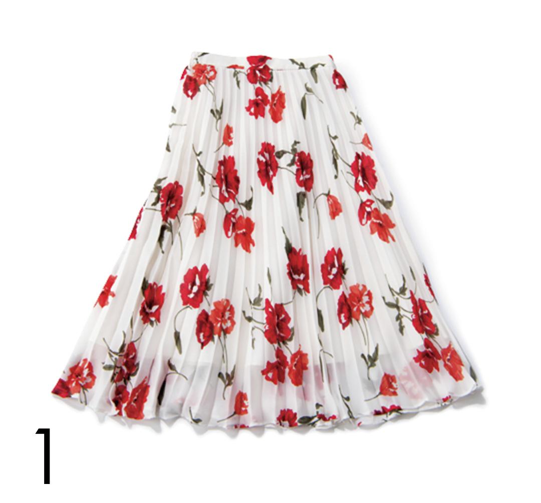 差がつく! 花柄ワンピ&スカートも「ちょこっと赤」♡ _1_4-1