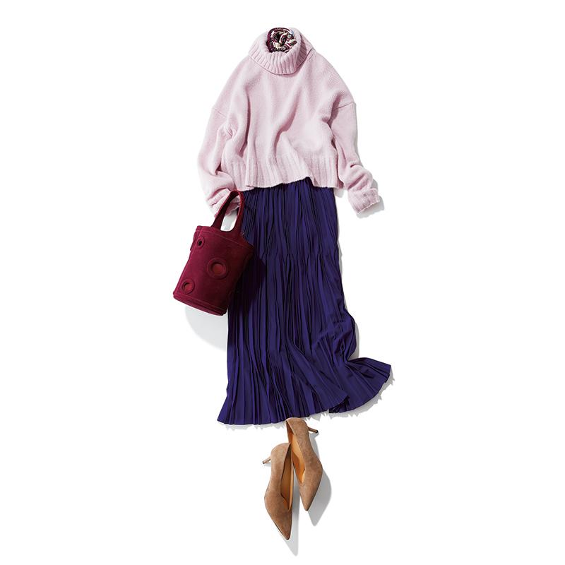 秋ファッションのトレンド色はパープル