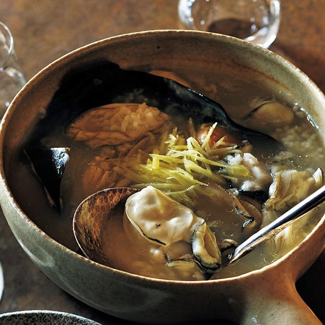 牡蠣の粥鍋